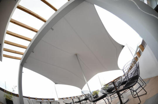 13 CUSTOM STRETCH TENT RESTAURANT PATIO WHITE