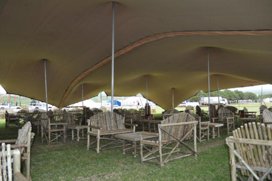 FESTIVAL CATERING TWO 15X21 STRETCH TENTS LINKED